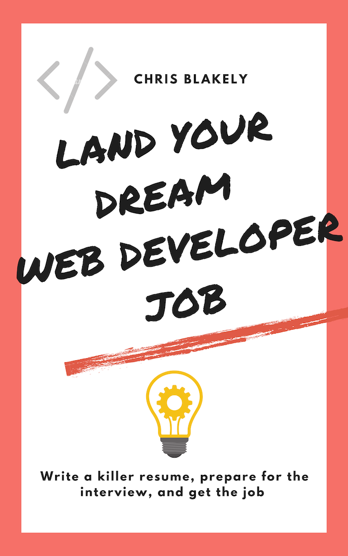 land your dream job as a web developer ebook