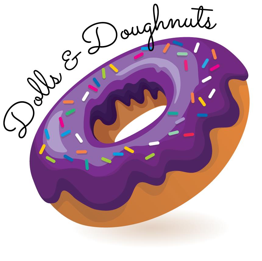 Dolls & Doughnuts podcast logo