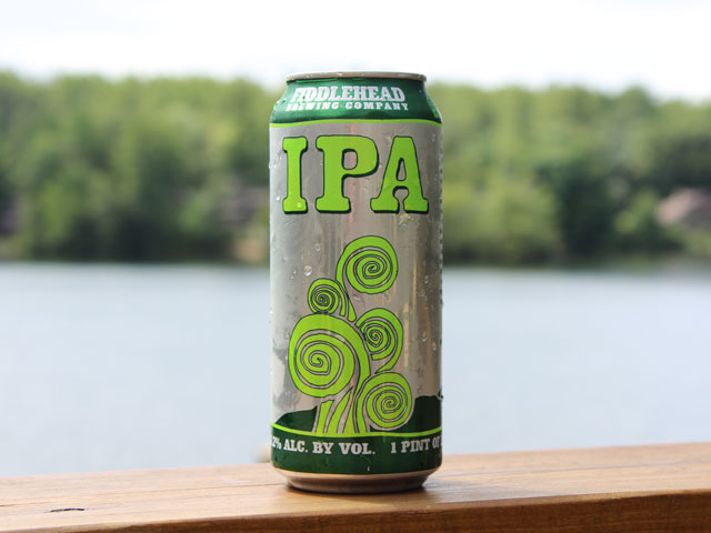 An IPA brewed by Fiddlehead Brewing Company