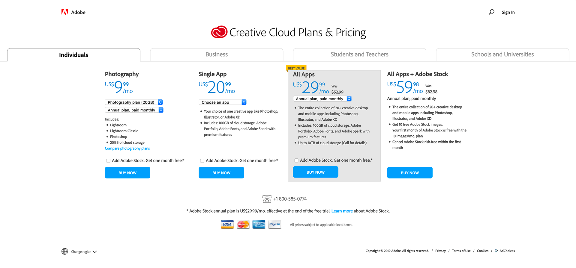 Adobe - BestPricingPages