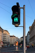 Love this inclusive crosswalk light.  Vienna, Austria, 2017