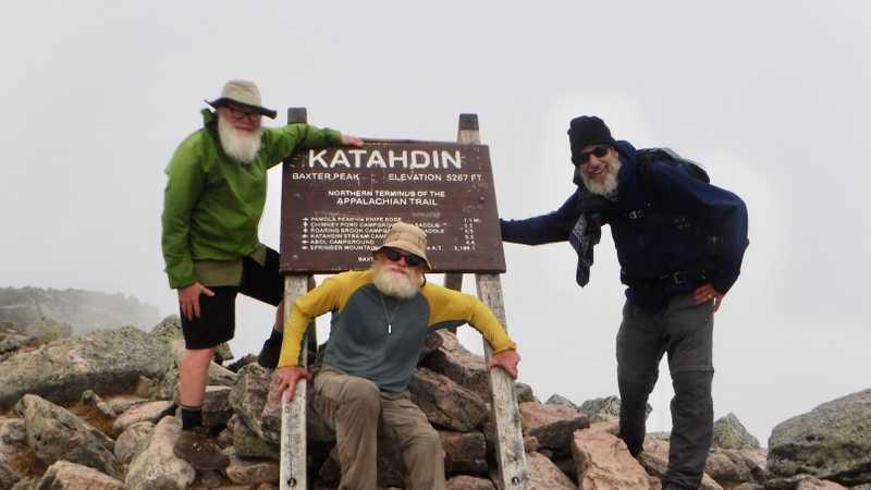 Gravity, Stick and Tengo on Mt. Katahdin