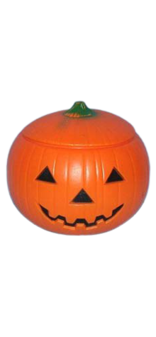 Lighted Pumpkin With Cover photo