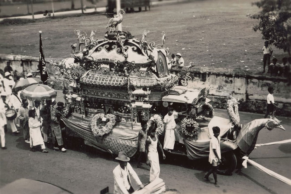 Hindu funeral procession, 1938