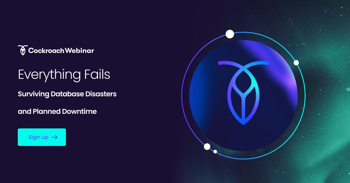 Everything Fails: Surviving database disasters and planned downtime