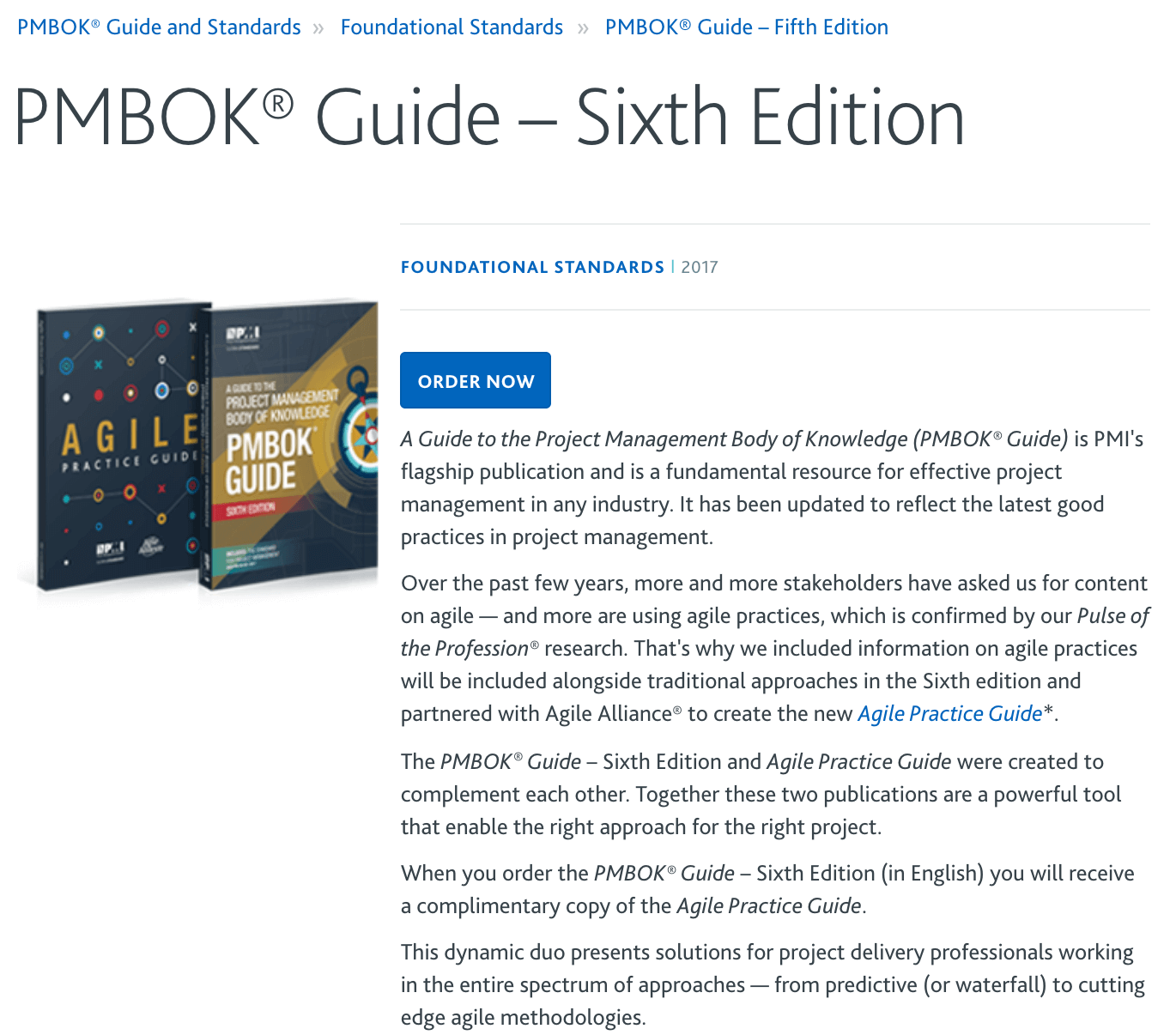 PMBOK Guide 6th Edition Download Page