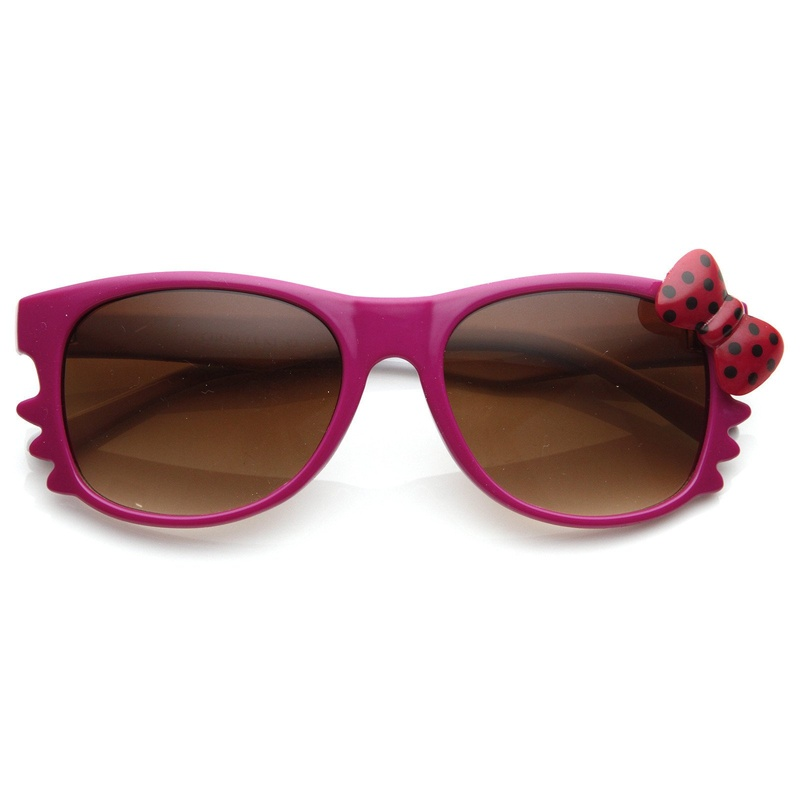 Hello Kitty Pink White Red Dot Bow Sunglasses Front