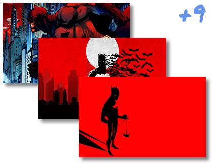 Batman Red theme pack