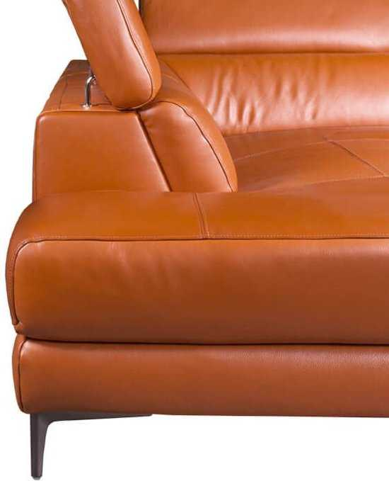 Hoekbank Lupine Chaise Longue Links Leer Oranje M5659 2 25 X 2 90 Mtr Breed 9200000083646643_5 Leer