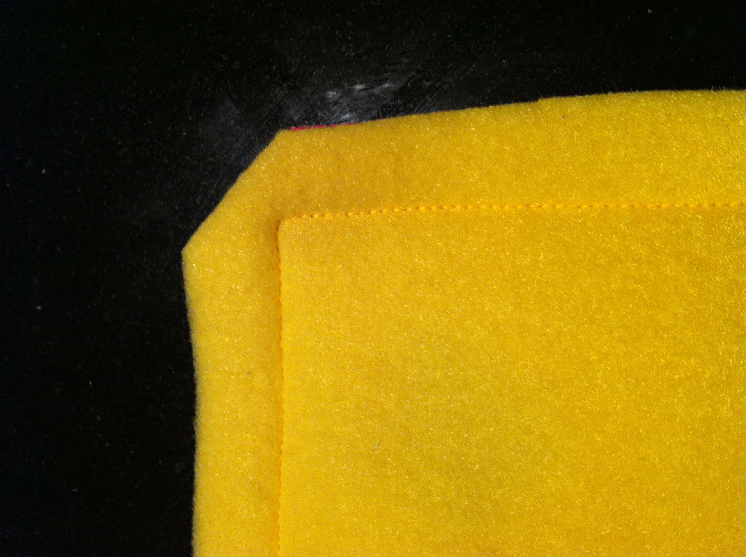 Sew three sides of the square together and cut the corners off (I always tidied up my edges)