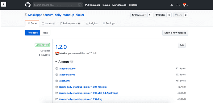 GitHub Release Page
