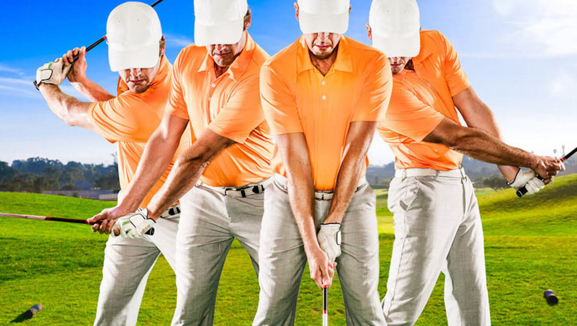 image of multiple stages of a golf swing
