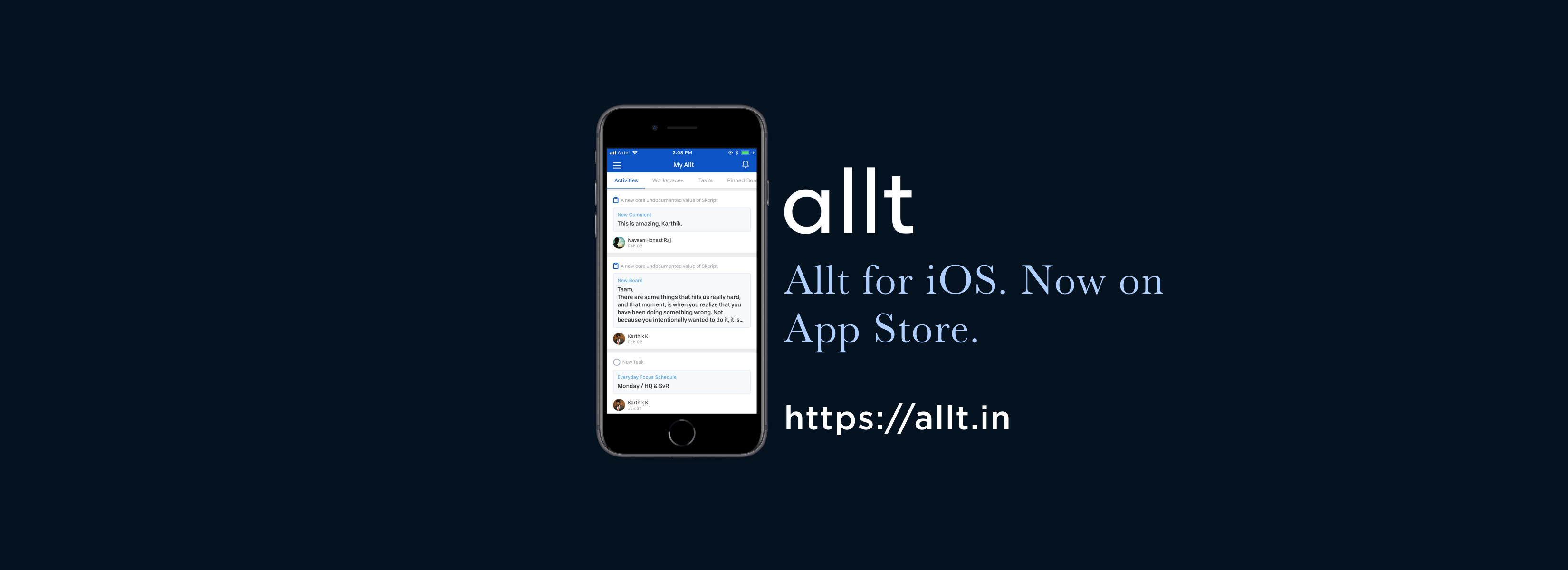 Announcing Allt for iOS. But there's a catch.