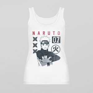 Naruto White Sleeveless Tank Top
