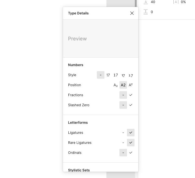 Figma Font Feature Settings