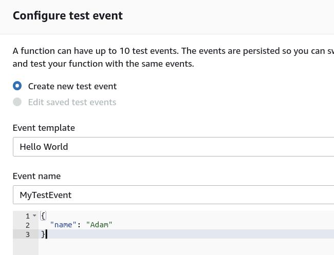 Configure Test Events