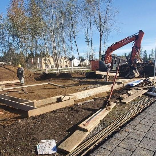 excavator working a job site