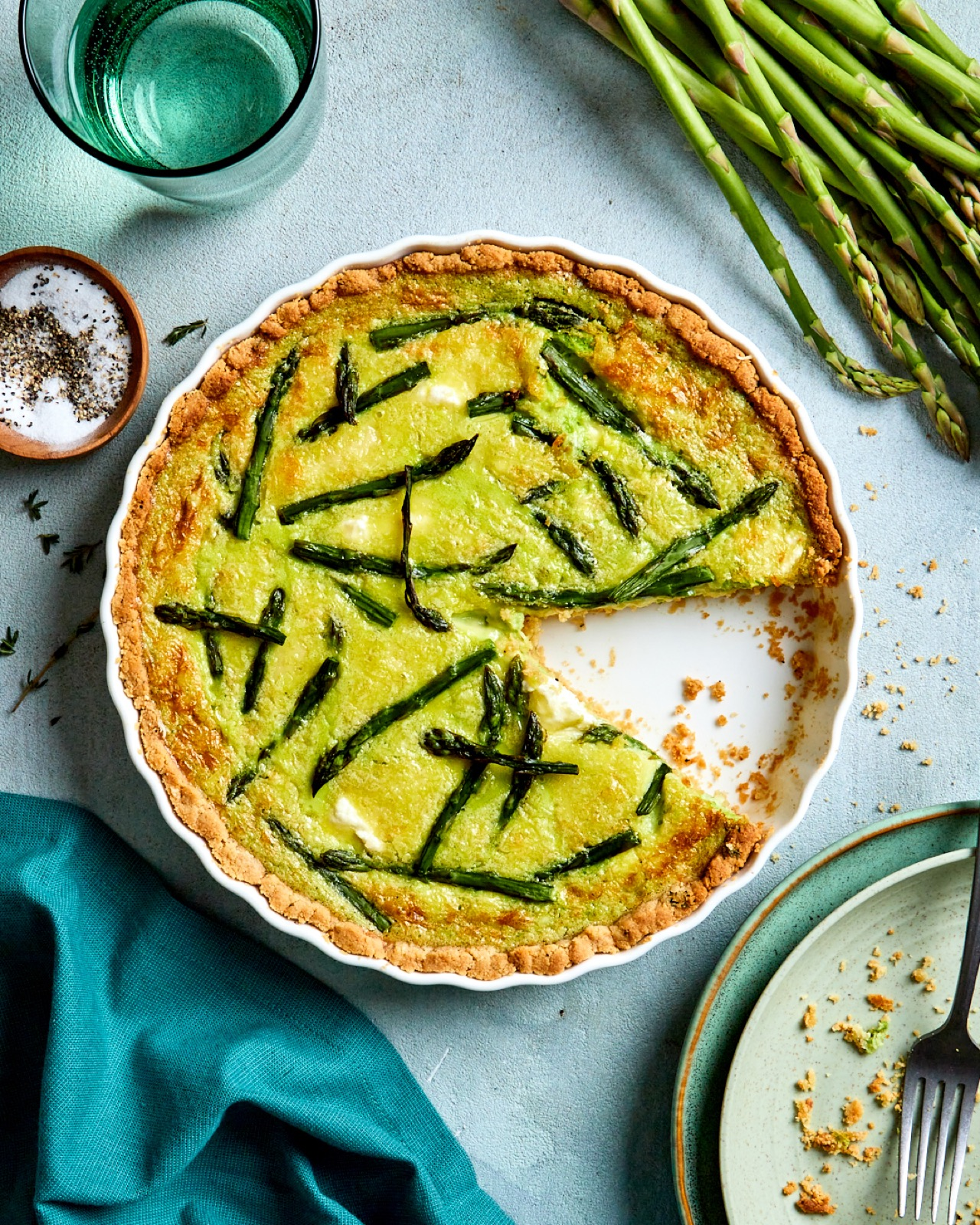Asparagus Custard Tart With a Gluten Free Crust