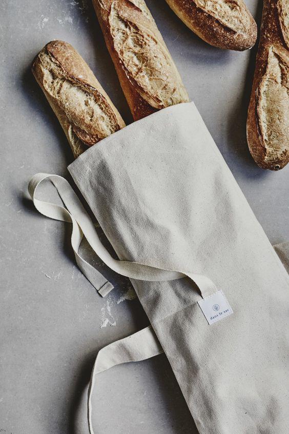 Sac à pain en jean upcyclé