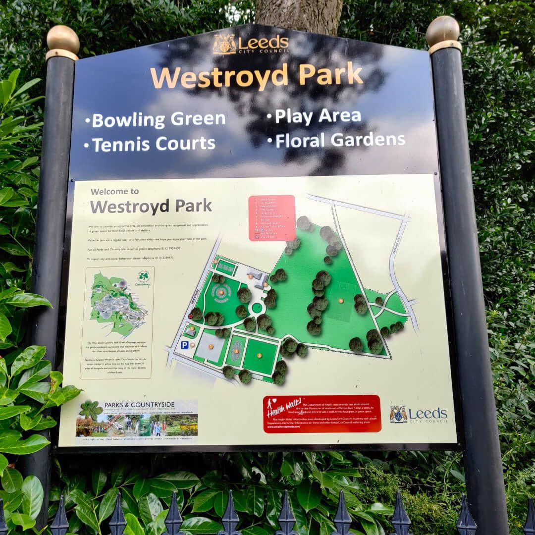 Westroyd Park sign