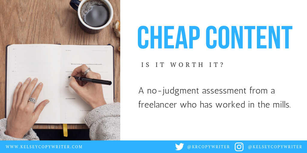 Is cheap content worth it for small businesses? Here are the pros and cons.