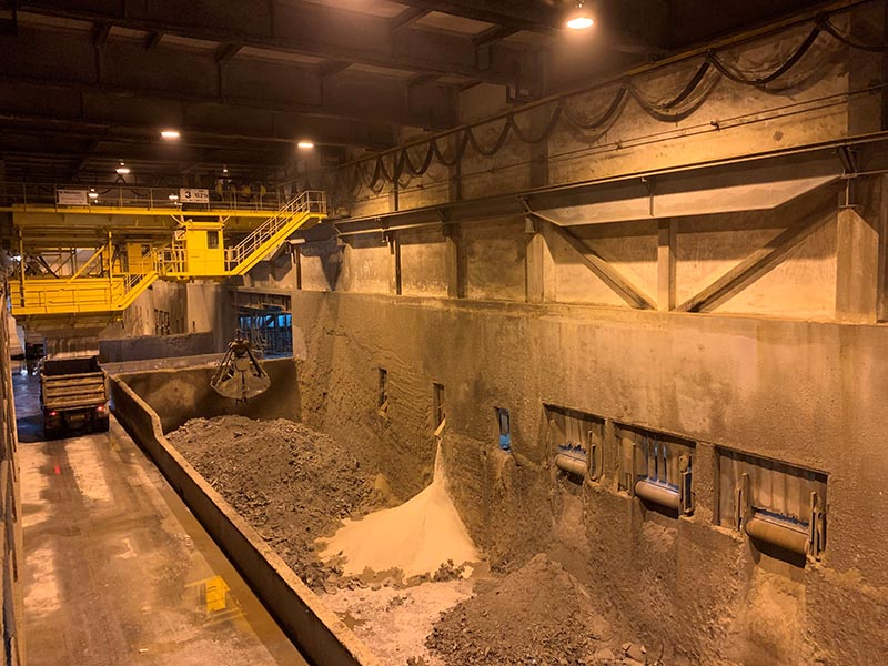 IBA pit at Tuas South Incineration Plant