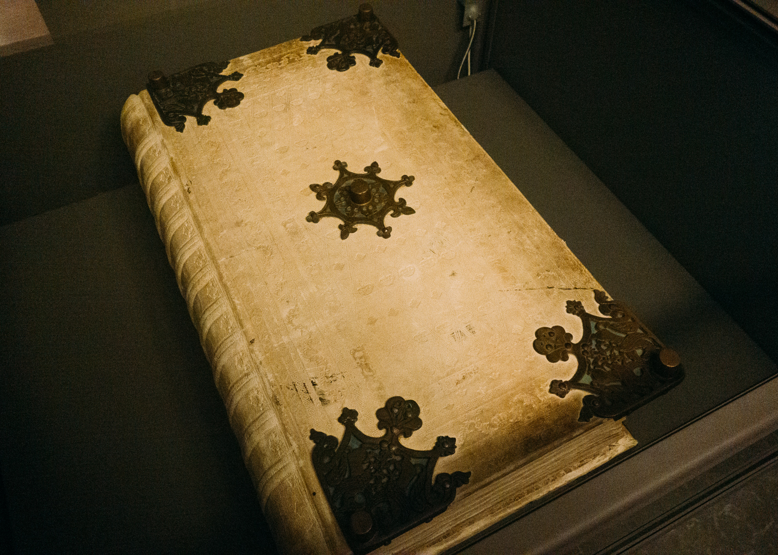 the cover of the codex gigas