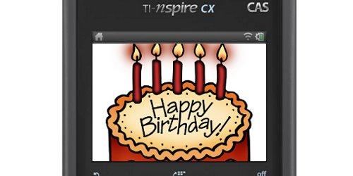 TI-Nspire CX birthday