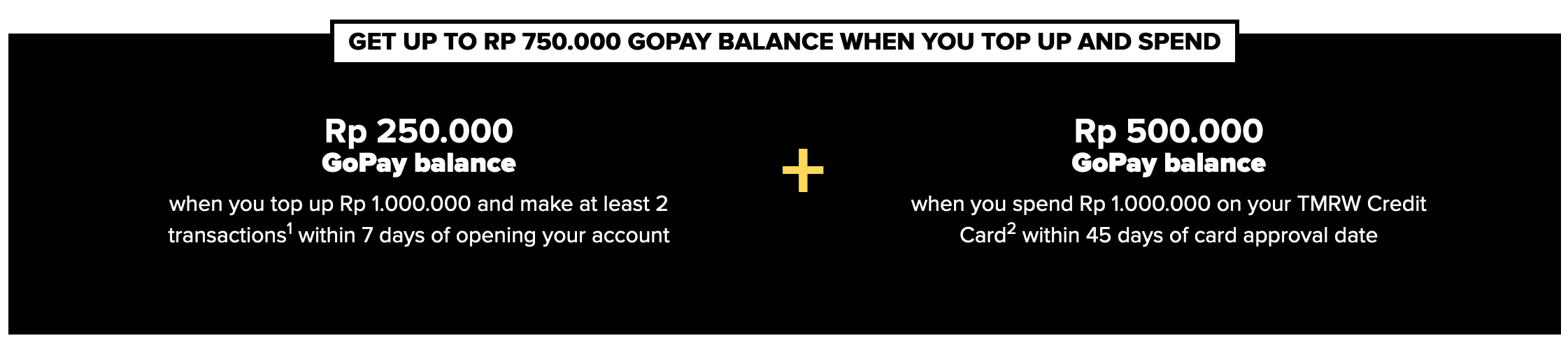 Money hack: Promo TMRWbyUOB dengan reward topup saldo GoPay