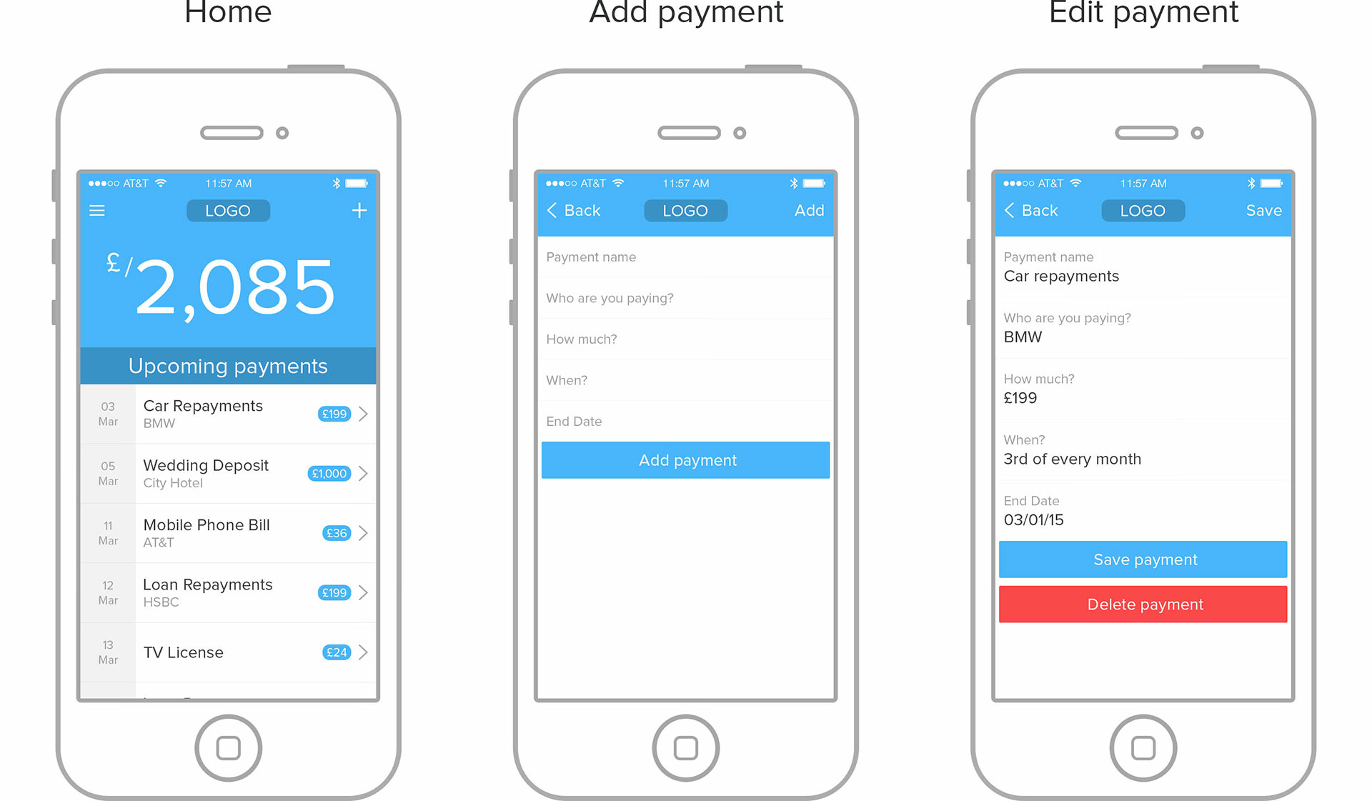 payment schedule app thomas mcclure designer