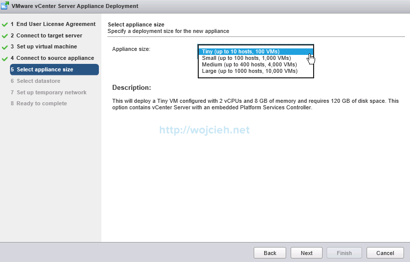 Upgrade vCenter Server Appliance from version 5 to version 6 - 10