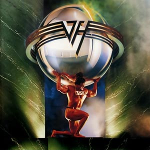 Van Halen's 5150 album cover - Atlas holding up the VH logo