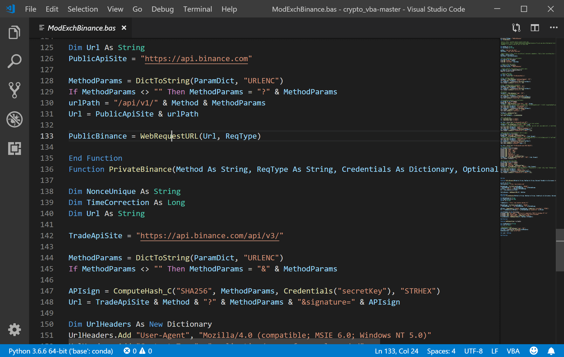 visual studio code vba syntax highlighting