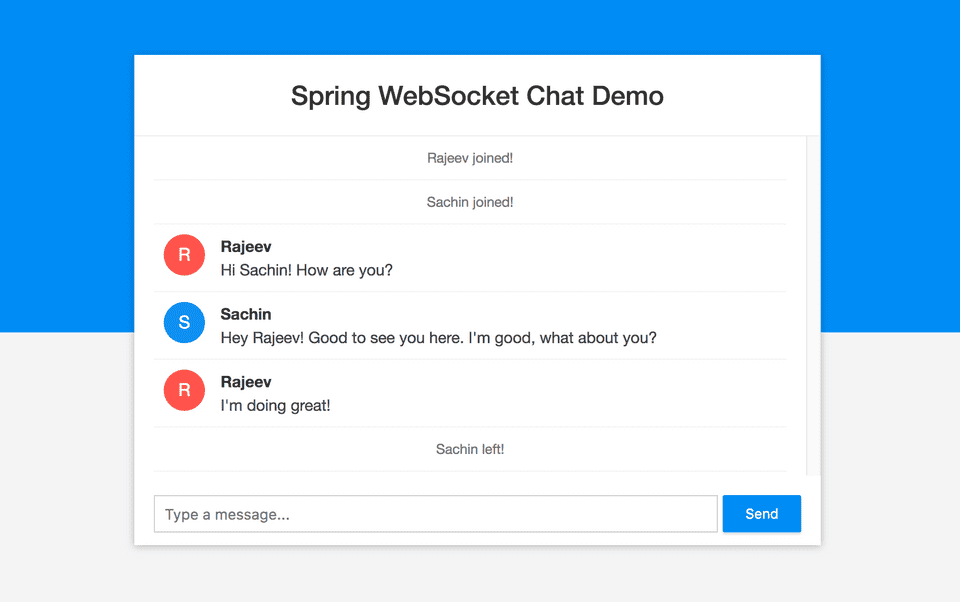 Building a chat application with Spring Boot and WebSocket