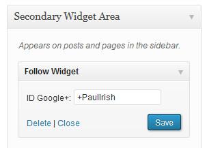 administration widget