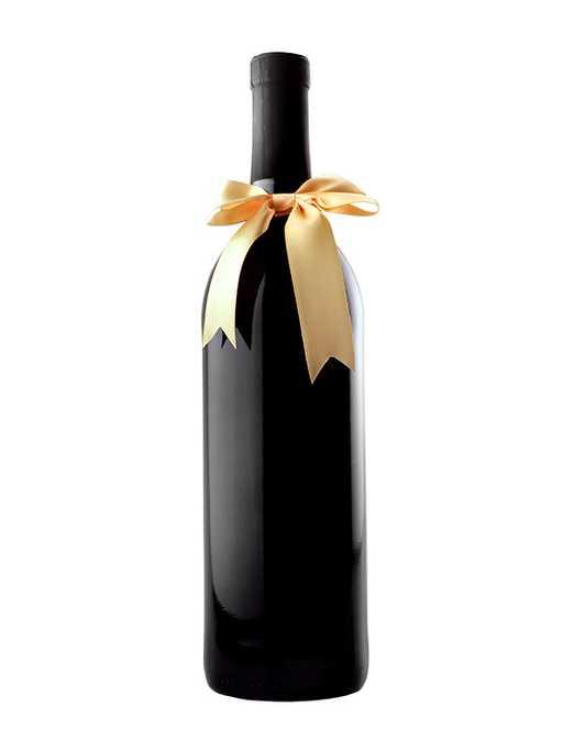 Gold gift bow for wine bottle