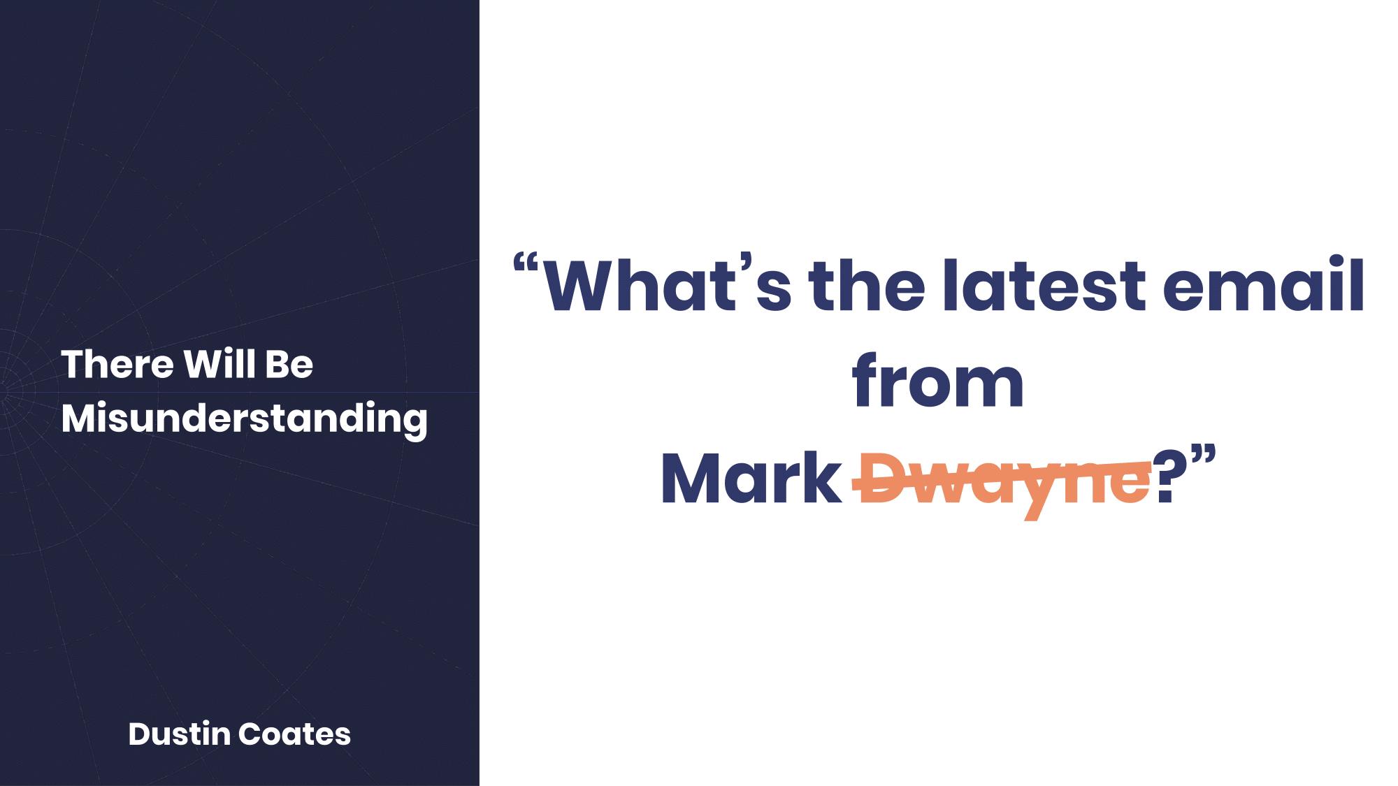 Mark Dwayne understood as Mark Twain