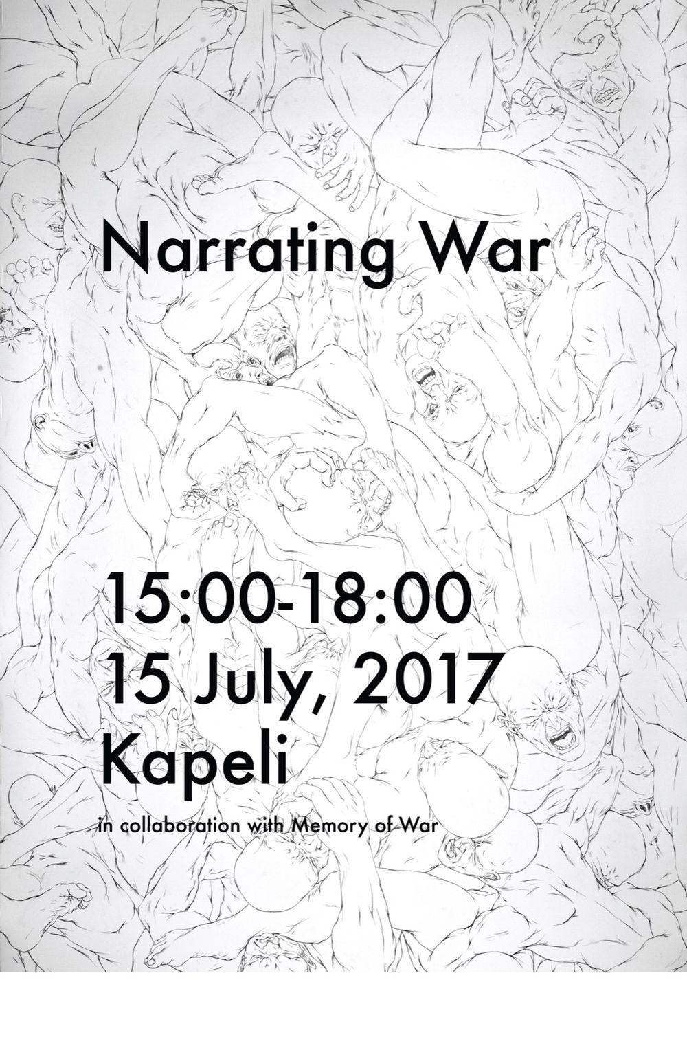 performance view, Narrating War, 2017, Kaapelitehdas, Helsinki, photo by Vidha Saumya