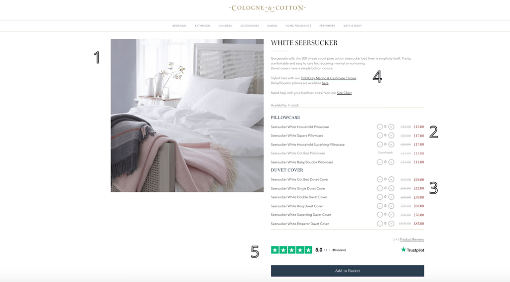 Cologne & Cotton product page