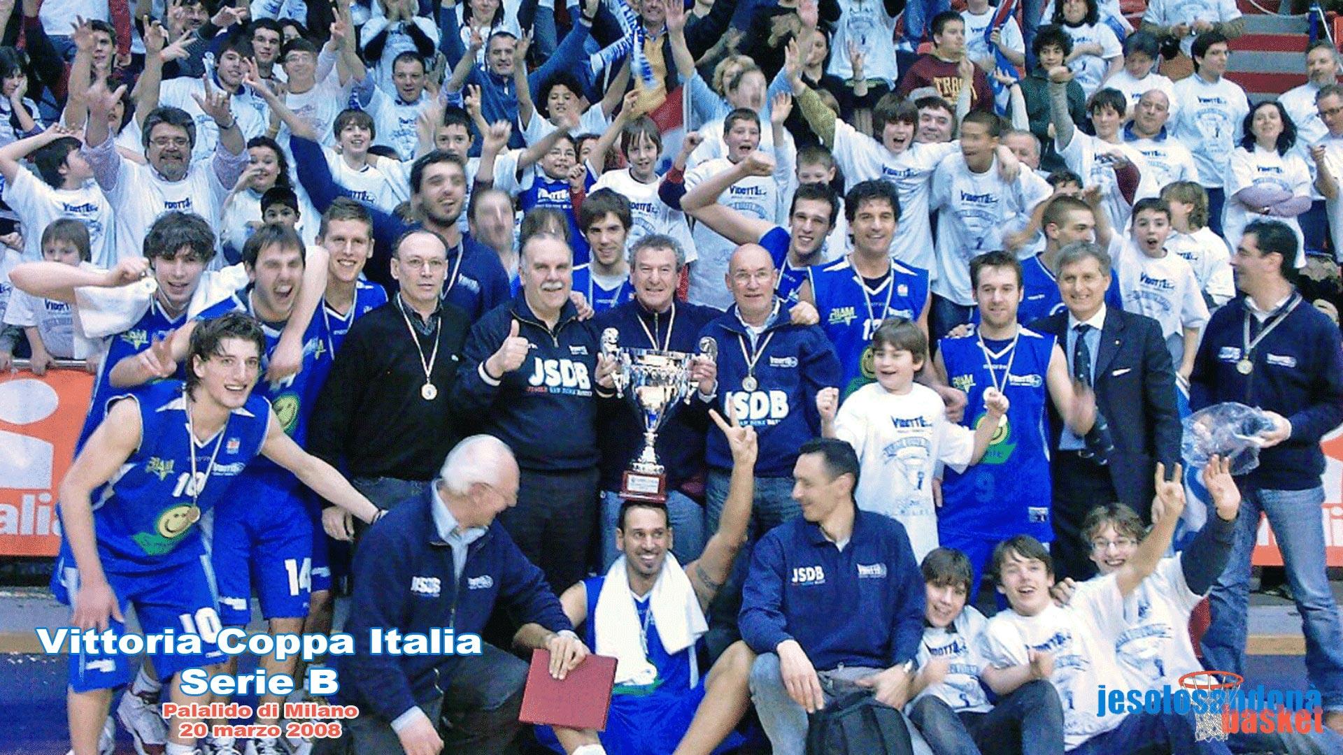 Jesolo San Donà Basket, Vittoria Coppa Italia Serie B al Palalido di Milano il 20 marzo 2008