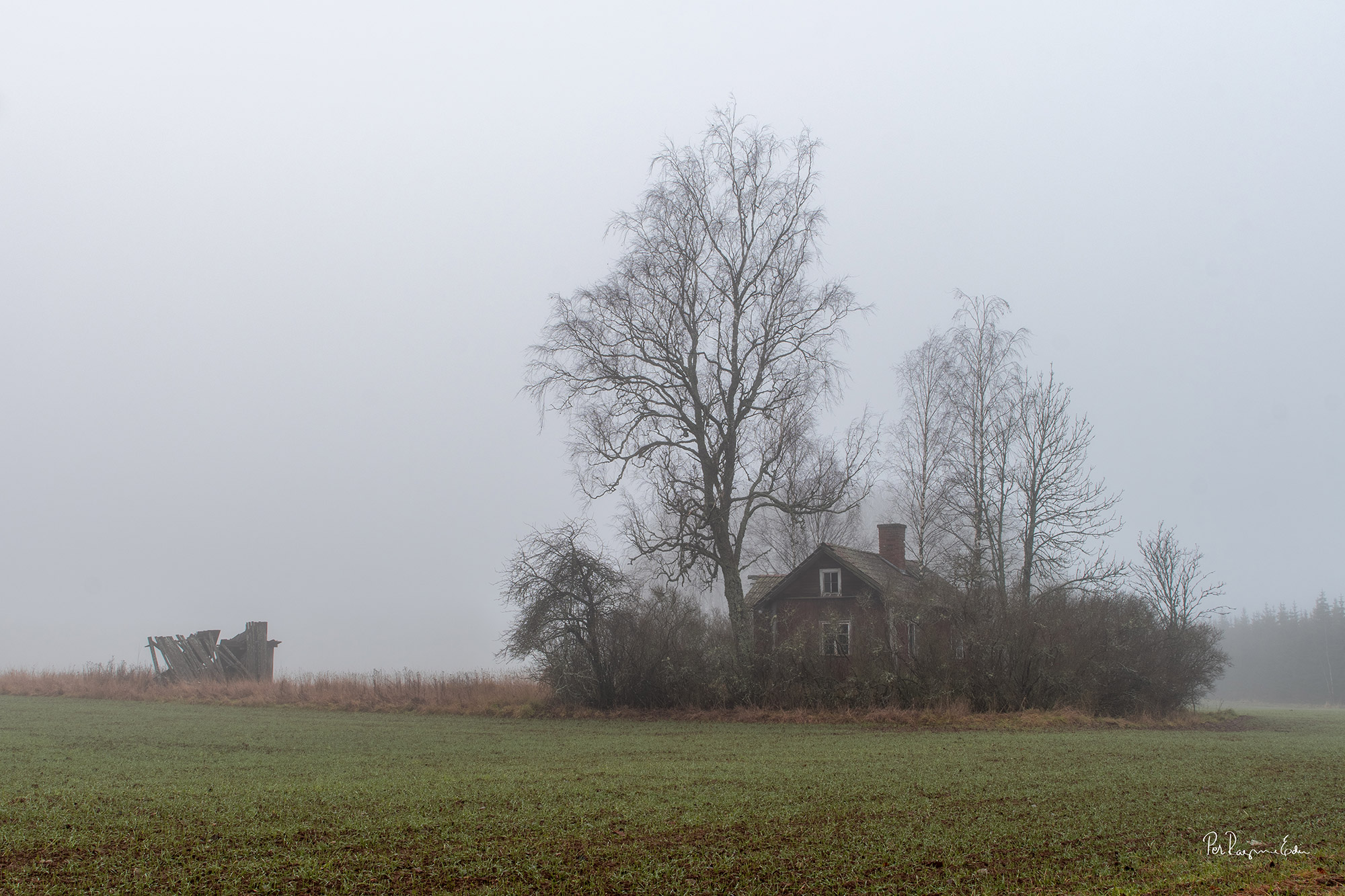 Torpet, en dimmig vinterdag i november