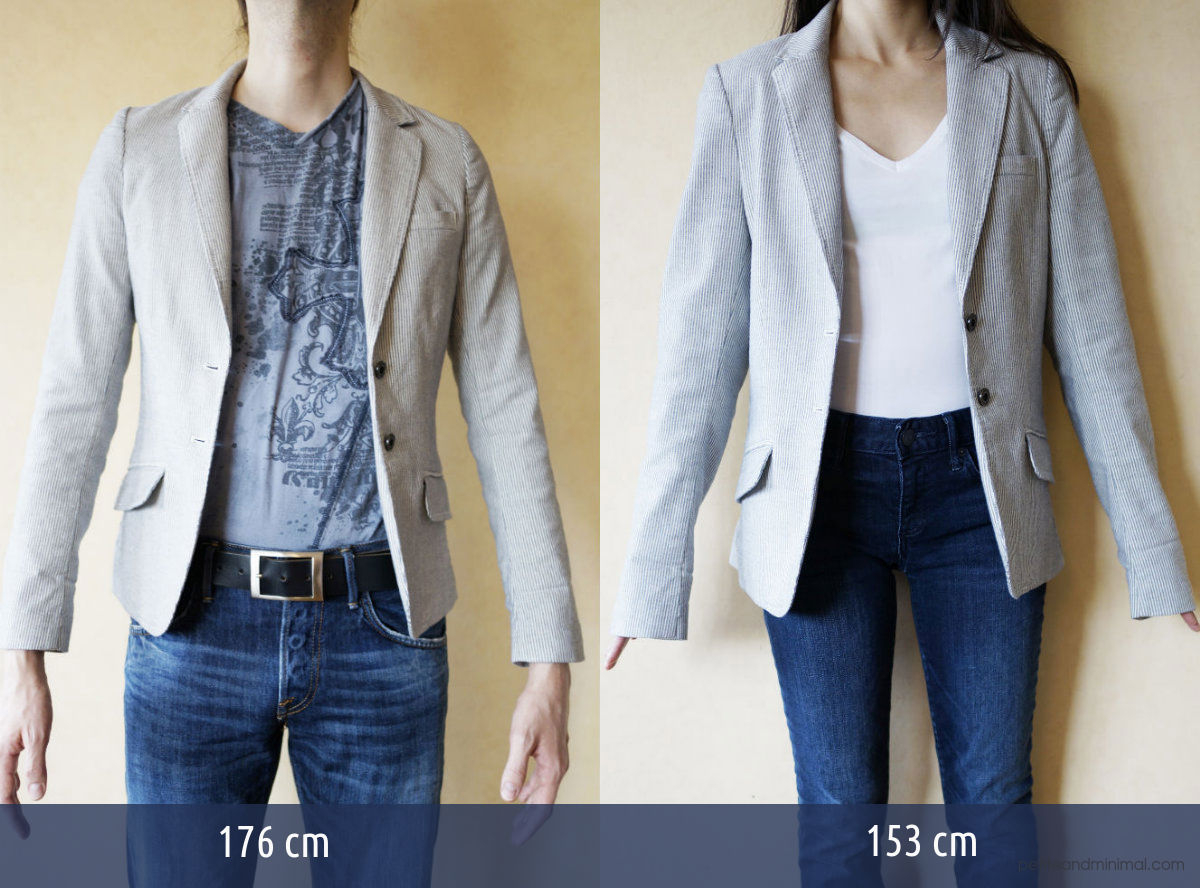 H&M Blazer EU 34 on 176cm and 153cm bodies