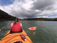 Kayaking up Waitangi River