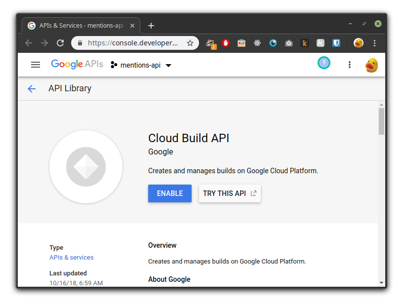 GCP Build API