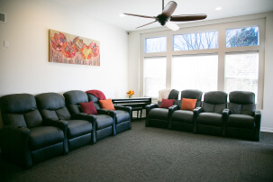The living/lounging room.