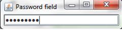 A password field