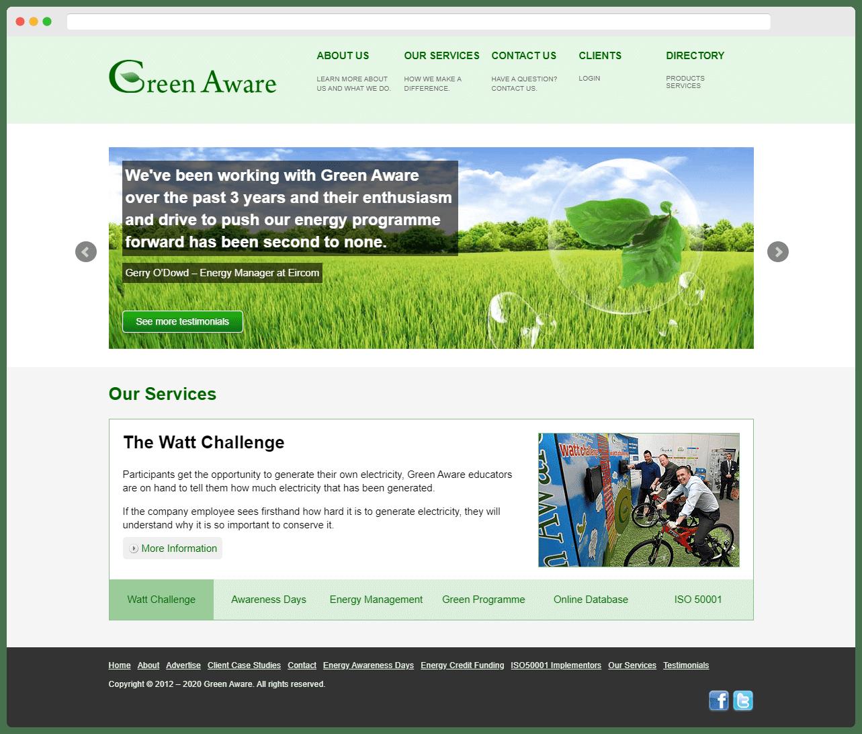 Green Aware Full Homepage