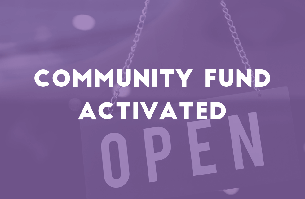 Community Fund Activated