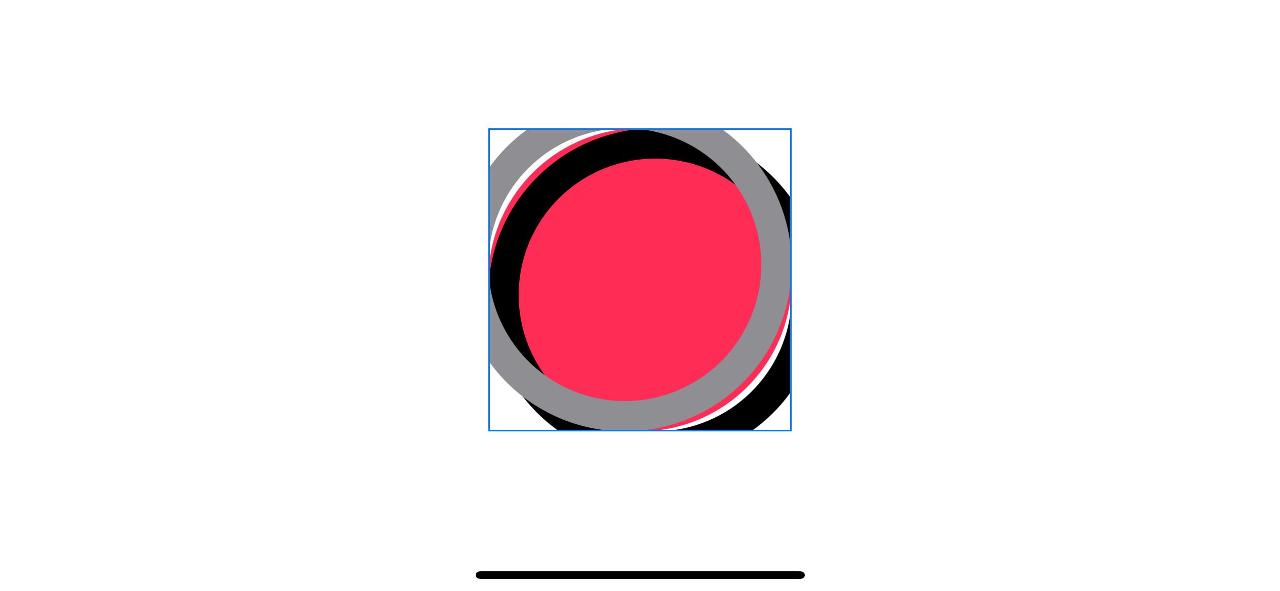 A bevel effect on a circular shape.