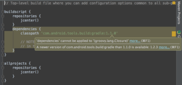 image from Fix Gradle warnings after Android Studio 1.3 update
